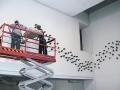 imply wampish (installation), Stoneware, 546 components, 15 x 8 x 7 cm, 2005