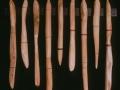 Untitled, cedar, steel, purple heart wood, bone, 90 x 5 x 5 cm, 1999